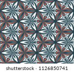 geometric flower seamless... | Shutterstock .eps vector #1126850741