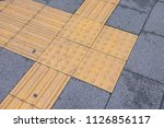 tactile paving for blind... | Shutterstock . vector #1126856117