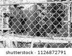 chain link fence across a... | Shutterstock . vector #1126872791