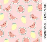 seamless vector summer pattern... | Shutterstock .eps vector #1126878581