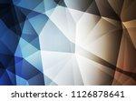 light blue  yellow vector...   Shutterstock .eps vector #1126878641