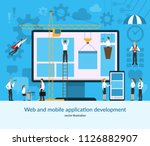 web and mobile application... | Shutterstock .eps vector #1126882907