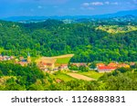 aerial view at picturesque... | Shutterstock . vector #1126883831