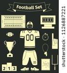 American Football Icons Set