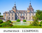 the historic castle of modave... | Shutterstock . vector #1126890431