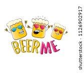 beer me vector concept... | Shutterstock .eps vector #1126902917
