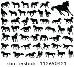 Horses Silhouette 4 Vector