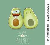 funny cartoon cute green...   Shutterstock .eps vector #1126905221