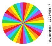 rainbow round spiral circle... | Shutterstock .eps vector #1126905647