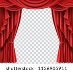 red stage curtain realistic... | Shutterstock .eps vector #1126905911