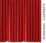 red stage curtain realistic... | Shutterstock .eps vector #1126906274