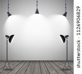 lluminated stage lamps with... | Shutterstock .eps vector #1126906829