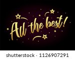 all the best card  banner.... | Shutterstock .eps vector #1126907291