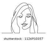 continuous line drawing of... | Shutterstock .eps vector #1126910357