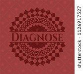 diagnose retro red emblem | Shutterstock .eps vector #1126917527