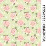 seamless wallpaper pattern with ... | Shutterstock .eps vector #112692181