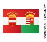 austria hungary flag. history... | Shutterstock .eps vector #1126932494