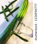 still cucumbers peeler | Shutterstock . vector #1126934777