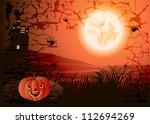 halloween background | Shutterstock .eps vector #112694269