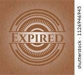 expired wood emblem. vintage. | Shutterstock .eps vector #1126946945