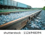 the railway engine of a freight ... | Shutterstock . vector #1126948394