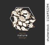 vector art line logo. chocolate ... | Shutterstock .eps vector #1126952294