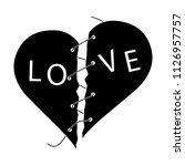 love slogan  cry  catchword ... | Shutterstock .eps vector #1126957757