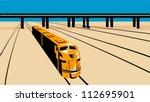 Illustration Of A Diesel Train...