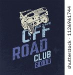 off road club logo. extreme... | Shutterstock .eps vector #1126961744