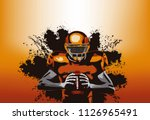 american football player with a ... | Shutterstock .eps vector #1126965491