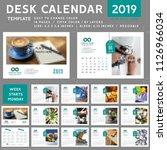 Desk Calendar 2019  Template...