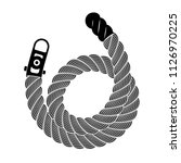 rope realistic weaving spiral... | Shutterstock .eps vector #1126970225
