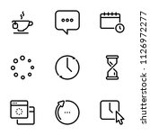 set of black vector icons ... | Shutterstock .eps vector #1126972277