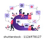vector ultraviolet illustration ... | Shutterstock .eps vector #1126978127