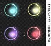 set of glowing lights effects... | Shutterstock .eps vector #1126978811