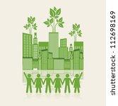 illustration of an ecological... | Shutterstock .eps vector #112698169
