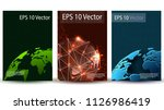 digital future cover with globe ... | Shutterstock .eps vector #1126986419