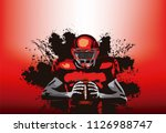 american football player with a ... | Shutterstock .eps vector #1126988747