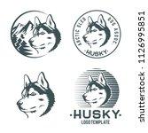 set of husky dog logo and...   Shutterstock .eps vector #1126995851