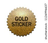gold stamp. luxury golden... | Shutterstock .eps vector #1126996637