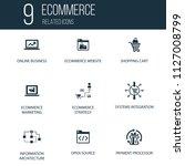 simple set of 9 ecommerce...