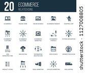 simple set of 20 ecommerce...