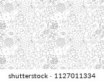 vector virtual reality pattern. ... | Shutterstock .eps vector #1127011334