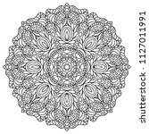 coloring book pages. mandala.... | Shutterstock . vector #1127011991