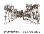 the french quarter  historic... | Shutterstock .eps vector #1127012879