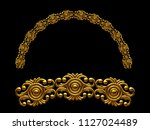 golden ornamental segment  ... | Shutterstock . vector #1127024489