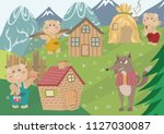 the three little pigs. fairy... | Shutterstock .eps vector #1127030087