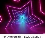 3d render  ultraviolet neon... | Shutterstock . vector #1127031827