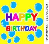 cheerful birthday celebration... | Shutterstock .eps vector #1127033435
