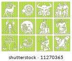 12 zodiac signs | Shutterstock . vector #11270365